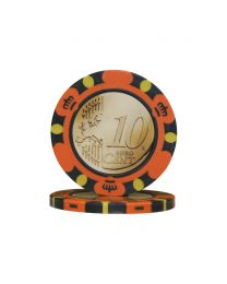 Pokerchips Euro ontwerp €0,10