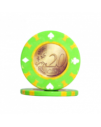 Pokerchips 20 Euro cent