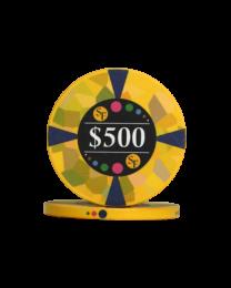 500 Dollar keramische chips Mozaïek