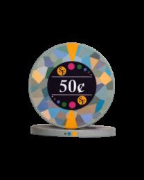 50 Cent keramische chips Mozaïek