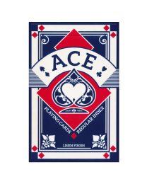 Ace bridge speelkaarten linnen finish blauw