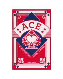 Ace bridge speelkaarten linnen finish rood