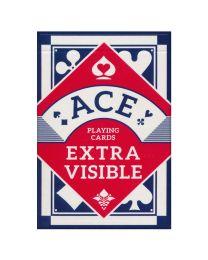 ACE speelkaarten extra visible blauw