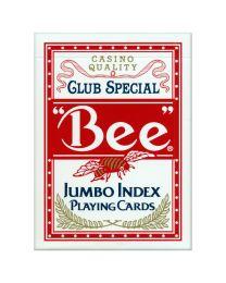 Bee Jumbo Index speelkaarten rood
