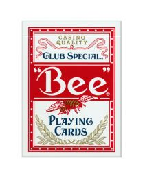 Bee playing cards rood