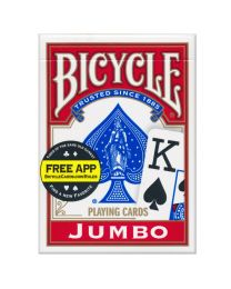 Bicycle kaarten jumbo index rood