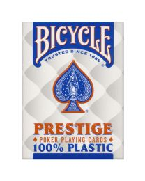 Bicycle Prestige 100% plastic speelkaarten blauw