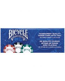 Bicycle pokerchips met tray