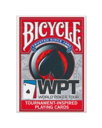World Poker Tour kaarten Bicycle rood