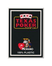 Plastic kaarten Modiano Texas Poker zwart
