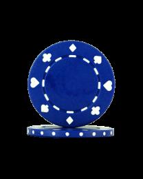 Pokerchips Suit blauw