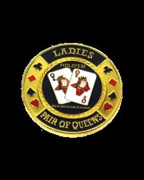 Card Protector Ladies Pair of Queens