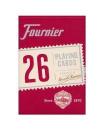 Fournier 26 Bridge speelkaarten rood