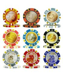 Pokerkoffer Euro ontwerp 300 pokerchips