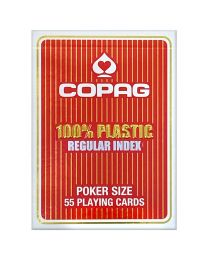 COPAG regular index playing cards rood