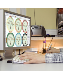 Persoonlijke poker chips design pakket zilver