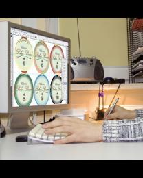 Persoonlijke poker chips design pakket platina