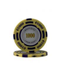 Euro pokerchips Monte Carlo €1000