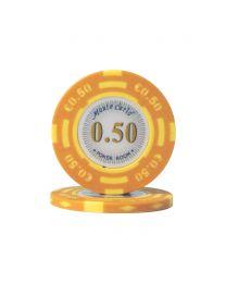 Euro pokerchips Monte Carlo €0,50