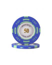 Euro pokerchips Monte Carlo €50