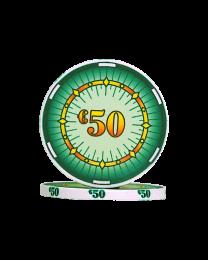 Ceramic pokerchips classics €50