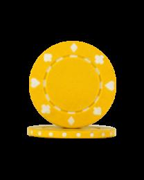 Pokerchips Suit geel