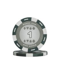 Grijze kleur pokerchips 1