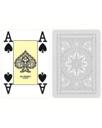 Grijze plastic kaarten Modiano