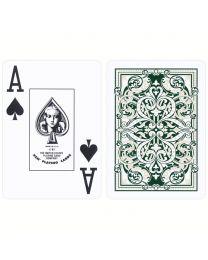 KEM speelkaarten Jacquard bordeaux en groen