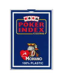 Poker index casino speelkaarten Modiano blauw