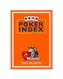 Poker index casino speelkaarten Modiano oranje