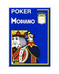Modiano Poker Cristallo Blu Plastica