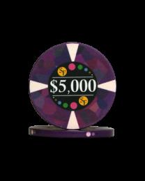 5000 Dollar keramische chips Mozaïek