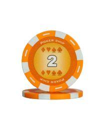 Oranje kleur pokerchips 2