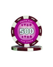 Paarse kleur pokerchips 500