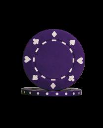 Pokerchips Suit paars