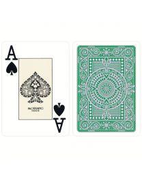 Plastic kaarten Modiano Texas Poker groen