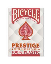 Bicycle Prestige 100% plastic speelkaarten rood