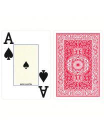 Plastic Poker Kaarten Piatnik Jumbo Index Rood