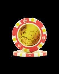 Pokerchips Euro ontwerp €0,50