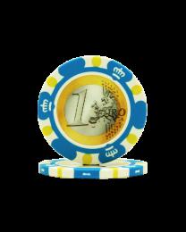 Pokerchips Euro ontwerp €1