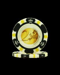 Pokerchips Euro ontwerp €2