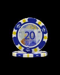 Pokerchips Euro ontwerp €20