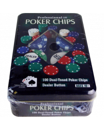 Professionele pokerchips kado set