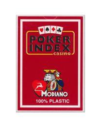 Poker index casino speelkaarten Modiano rood