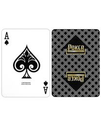Poker Playing Cards Carta Mundi Black