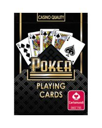 Poker Playing Cards Cartamundi Black