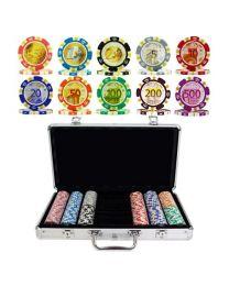 Pokerkoffer Euro ontwerp 300 pokerchips