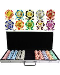 Pokerkoffer Euro ontwerp 500 pokerchips