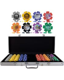 Poker set Nederlandse gulden 500 pokerfiches